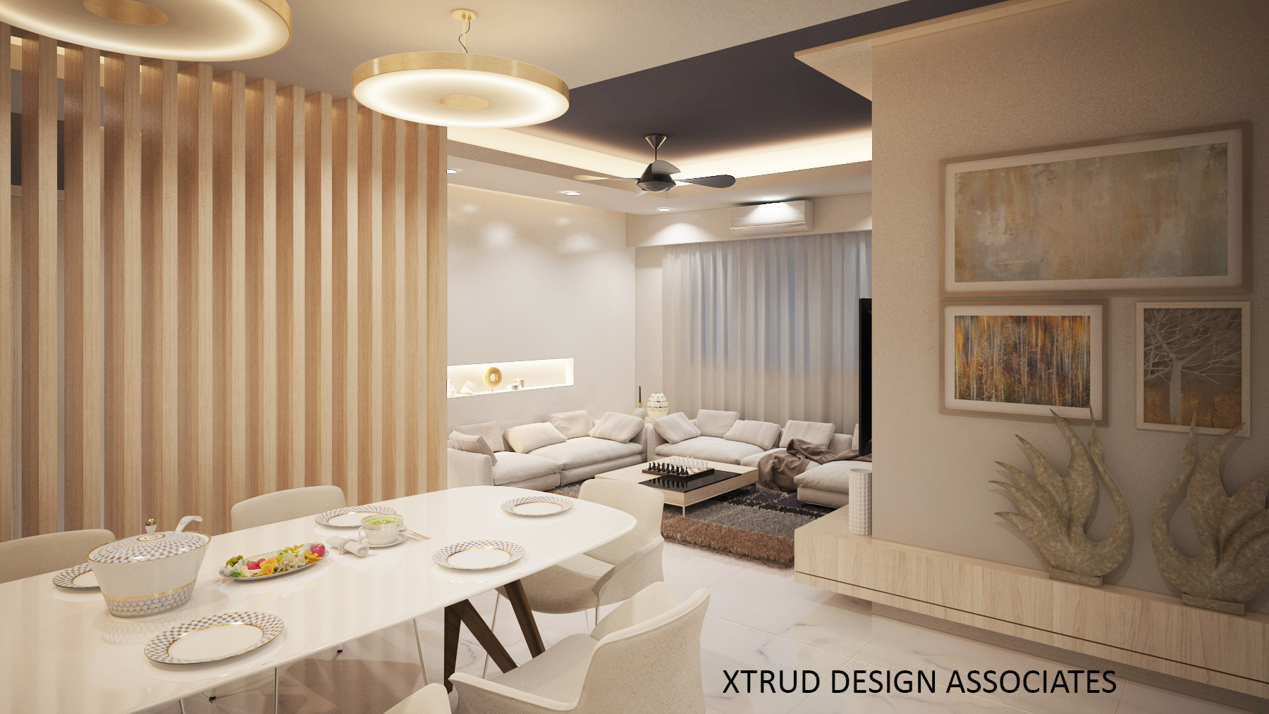 A contempo look for a 3bhk apartment,Kanjurmarg.