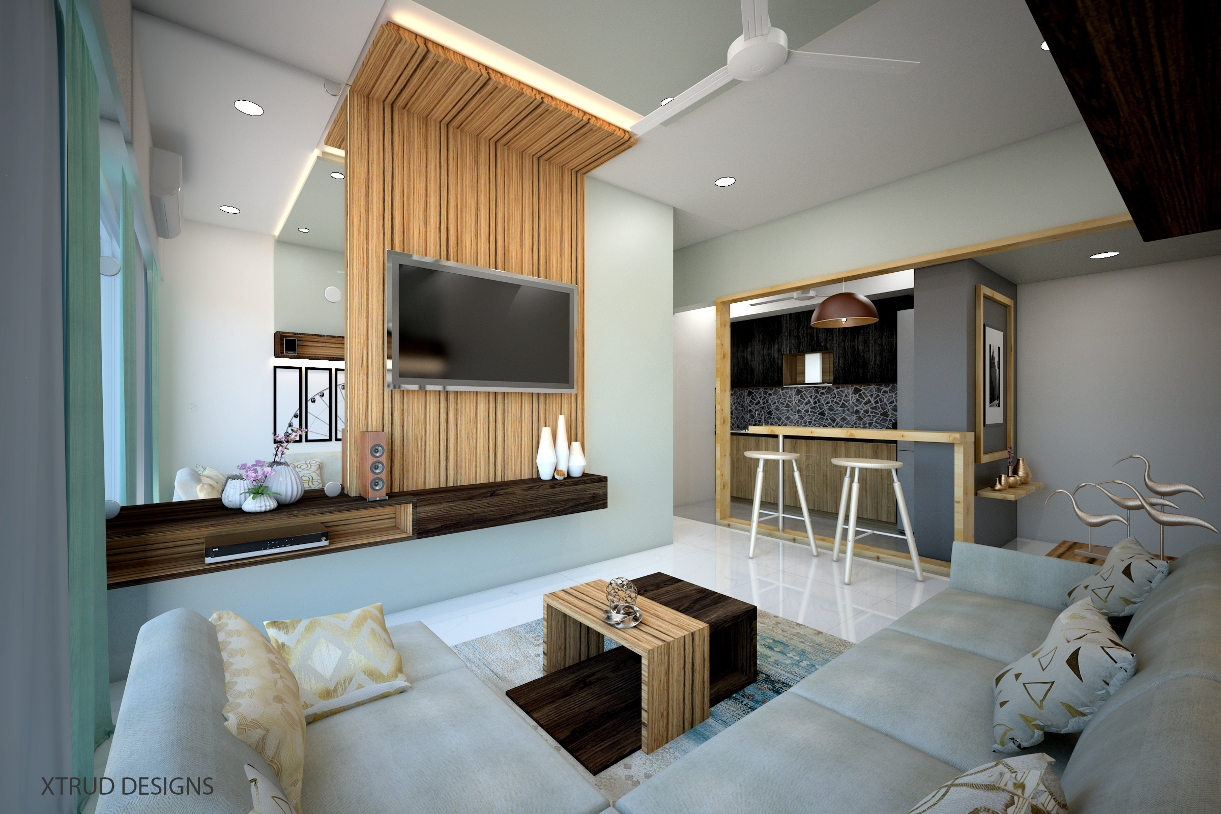 Smart and trendy compact apartment,Parel.